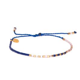 Blush Indigo Lilac String Armband