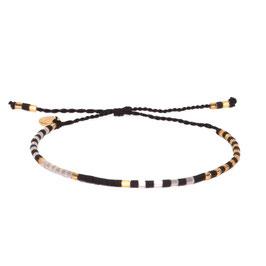 Blush Indigo Schwarz Gold Armband