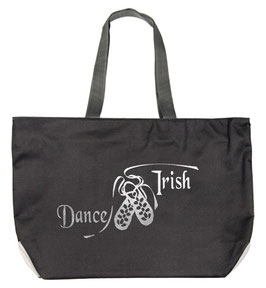"TOTE BAG ""DANCE IRISH"" SILVER"