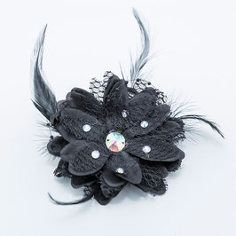 FLOWER & FEATHER HAIRPIECE