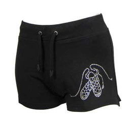 HOTPANTS BLACK WITH DIAMANTE PUMPS - KIDS/ADULTS
