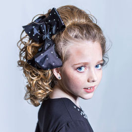 BLACK BOW WITH DIAMANTES