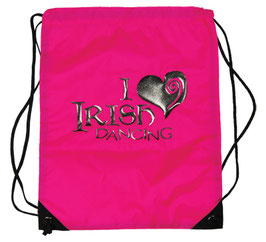 "DRAWSTRING DANCE BAG - ""I LOVE IRISH DANCING"""