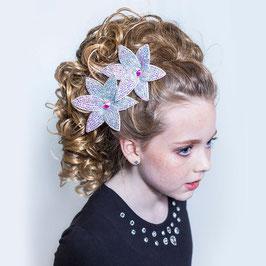 DOUBLE FLOWER HAIR CLIP