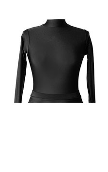 BLACK TURTLENECK LONG SLEEVED LEOTARD