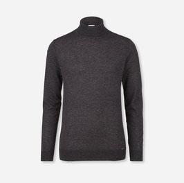 OLYMP Level Five Strick Body Fit, Pullover Rollkragen, Schurwolle 015112 67 Anthrazit