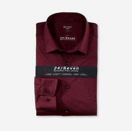 OLYMP Luxor 24/Seven  modern fit, Businesshemd, New Kent 120264 37 Bordaux