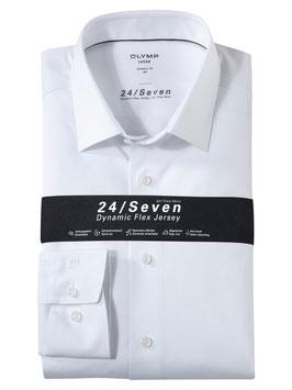 OLYMP Luxor 24/Seven  modern fit, Businesshemd, New Kent 120264 00 Weiß