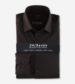 OLYMP Luxor 24/Seven  modern fit, Businesshemd, New Kent 1202 64 68 Schwarz
