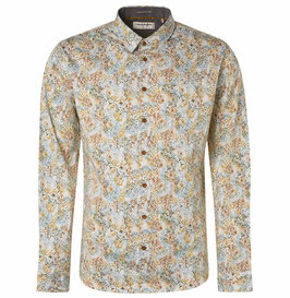 No Excess Shirt Long Sleeve All Over Printed Stretch 97430702SN 073 Gold