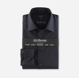 OLYMP Luxor 24/Seven  modern fit, Businesshemd, New Kent 120264 18 Marine