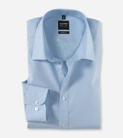 OLYMP Level Five  body fit, Businesshemd, New York Kent 609064 10 Hellblau