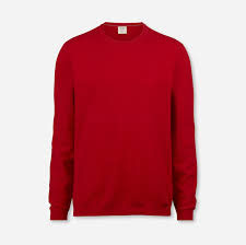 OLYMP Level Five Strick Body Fit, Pullover Rundhals 015211 35 Rot