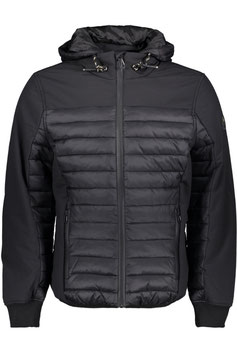 No Excess Jacket Short Fit Hooded Padded 97630730 020 Black