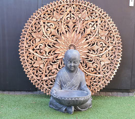Massief houten carving wandpaneel