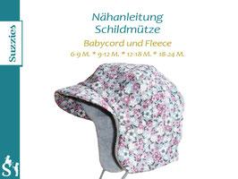 Nähanleitung Schildmütze (Babycord und Fleece)