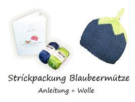 Strickpackung Blaubeermütze + Wolle