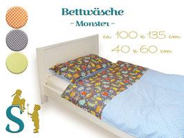 Bettwäsche ~ Monster ~ 100x135 cm