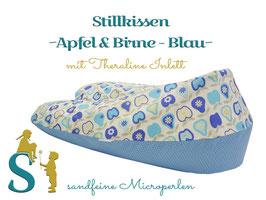 Stillkissen ~Apfel & Birne Blau~