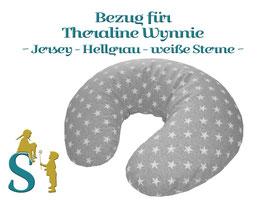 Bezug ~Jersey-Hellgrau-weiße Sterne~ für Wynnie