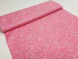 Stoff Whoo´s Cute Cotton~Ranken Rosa~ 112 cm breit Meterware Baumwolle