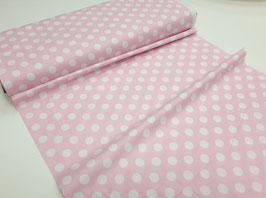 Stoff Wiltshire Daisy ~Rosè Dots~ 112 cm breit Meterware Baumwolle