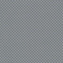 Baumwolle Webware, Tupfen, 2 mm, Grau
