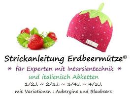 Strickanleitung Erdbeermütze für Experten