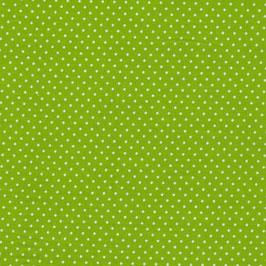 Baumwolle Webware, Tupfen, 2 mm, Grün