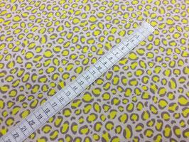 Stoff Bright Now ~Leo Gelb~ 112 cm breit Meterware Baumwolle