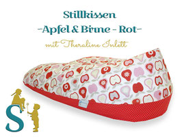 Stillkissen ~Apfel & Birne Rot~ Theraline Inlett