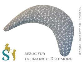 Bezug für Plüschmond~Jersey-Grau-Anker~