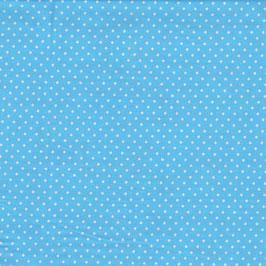 Baumwolle Webware, Tupfen, 2 mm, Hellblau