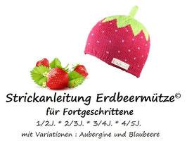 Strickanleitung Erdbeermütze für Fortgeschrittene