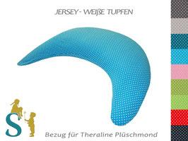 Bezug für Plüschmond ~Jersey-weiße Tupfen ~