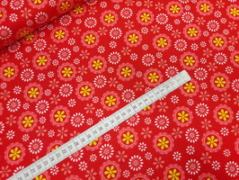 Stoff Gypsy ~Rot~ 112 cm breit Meterware Baumwolle