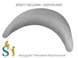 Bezug für Plüschmond~Jersey-Hellgrau-Snowflakes~