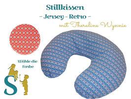 Stillkissen ~Jersey - Weiße Sterne~ Theraline Wynnie