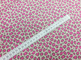 Stoff Bright Now ~Leo Pink~ 112 cm breit Meterware Baumwolle