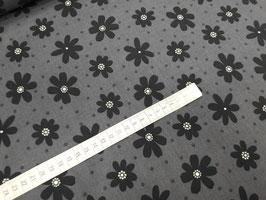 Stoff Jasmine ~Grau~ 112 cm breit Meterware Baumwolle