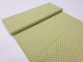 Stoff Michael Miller ~Monster Dots Lindgrün~ 112 cm breit Meterware Baumwolle