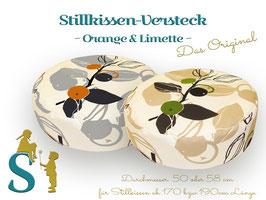 Stillkissen Versteck ~Orange & Limette~