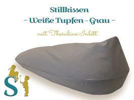 Stillkissen ~Weiße Tupfen - Grau~ Theraline Inlett