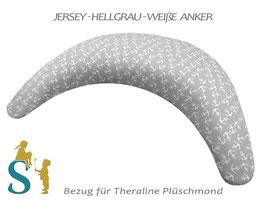 Bezug für Plüschmond~Jersey-Hellgrau-Anker~