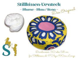 Stillkissen Versteck ~ Blume Blau/Rosa~