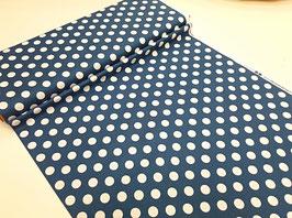 Stoff Wiltshire Daisy ~Blue Dots~ 112 cm breit Meterware Baumwolle