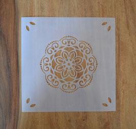 Schablone MALIKA,     Aussengrösse: 20 x 20cm, Motiv: Ø ca. 12,2cm