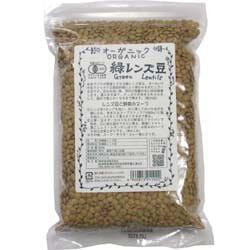 アメリカ産 オーガニック緑レンズ豆 100g