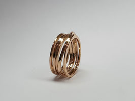 Wickelring aus 585/- Rotgold