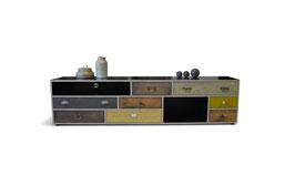 Sideboard Vintage Möbel S.T2 mit verschiedenen Schubladen